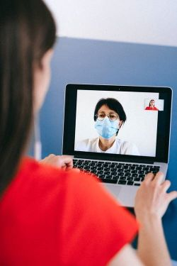 doctor's consultation on video call