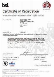 bsi certificate of registration Quality management system
